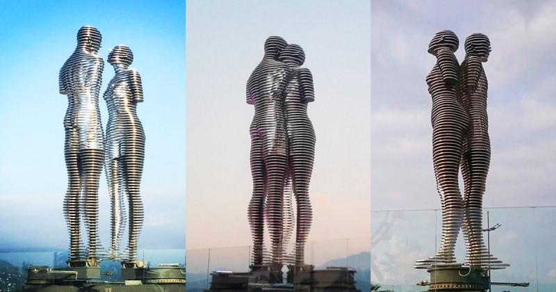 Estatuas-de-Alí-y-Nino-Georgia