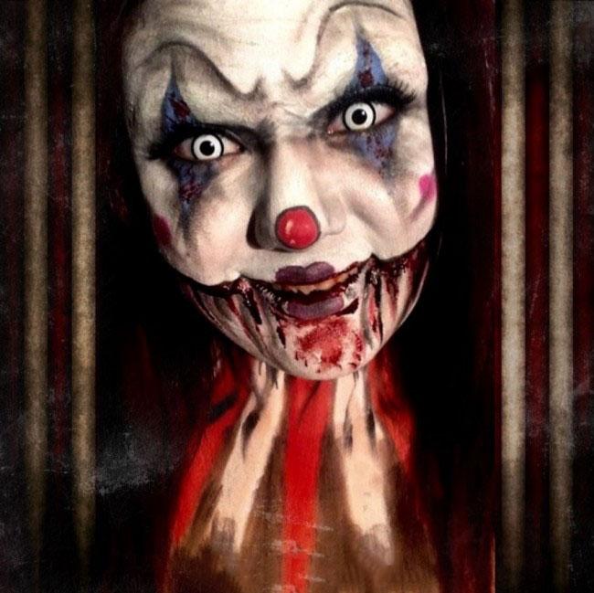 21 maquillajes terrorificos para halloween for Caras pintadas para halloween