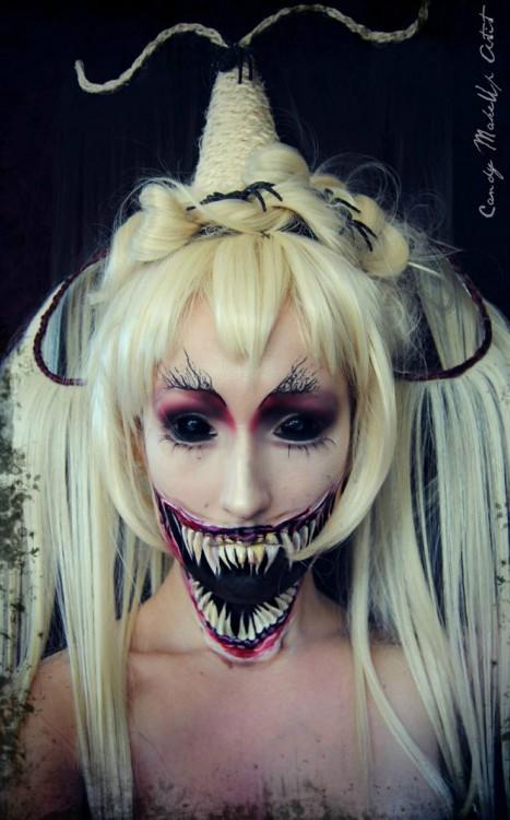 Maquillajes-terrorificos-chica-demonio