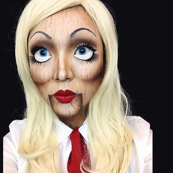 Maquillajes-terrorificos.muneca-de-madera