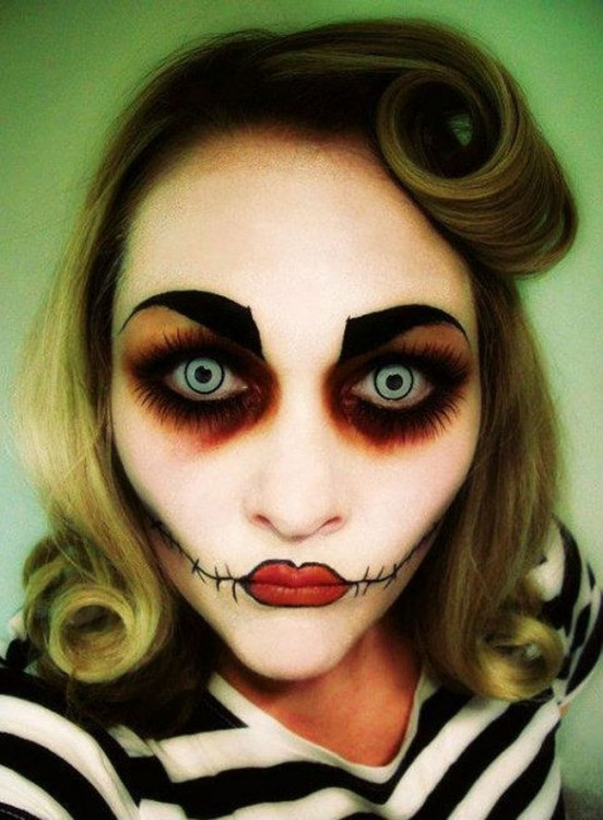 maquillajes-para-halloween-zombie-pin-up