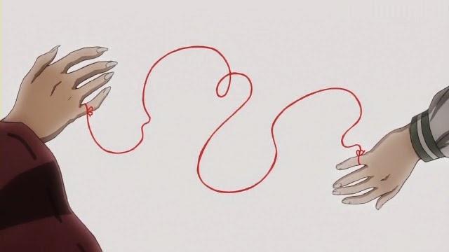 Ilustración hilo rojo del destino