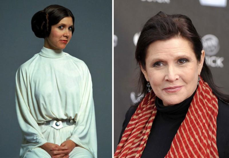 Carrie-Fisher-1977-2015-Princesa-Leia