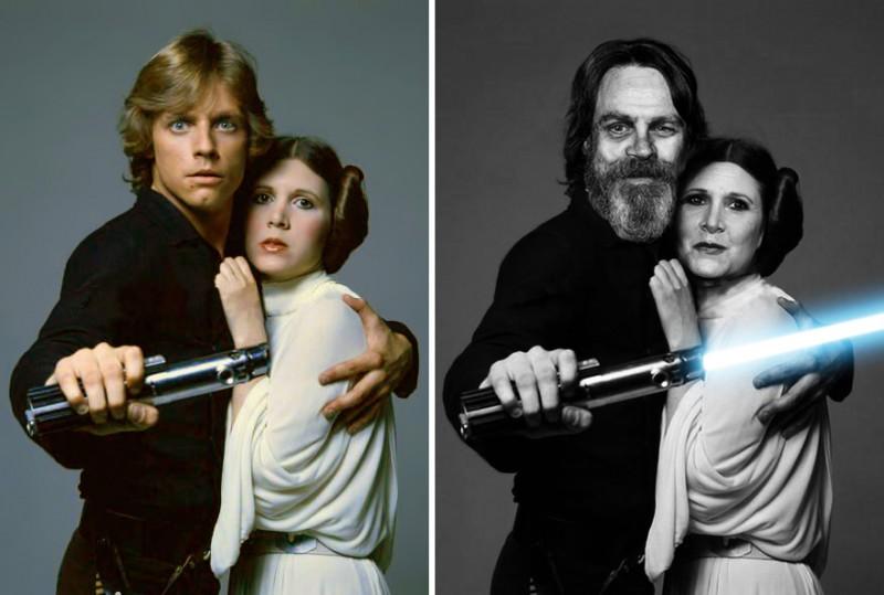 Fisher-y-Hamill-1977-2015-Luke-y-Leia
