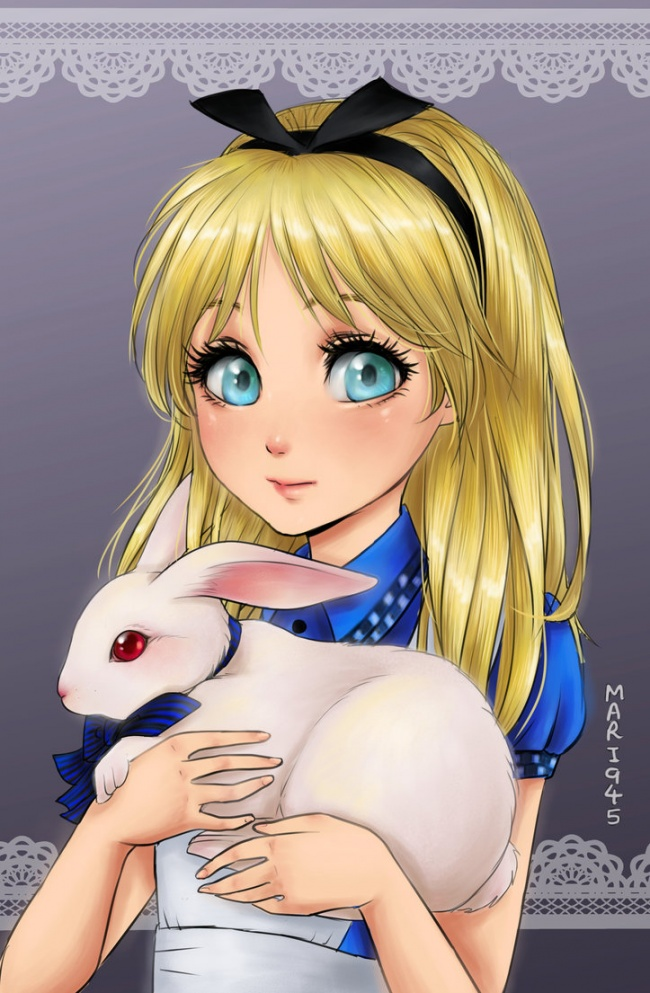 Alicia del pais de las maravillas anime