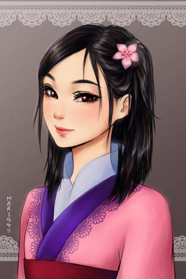 Disny Mulan anime