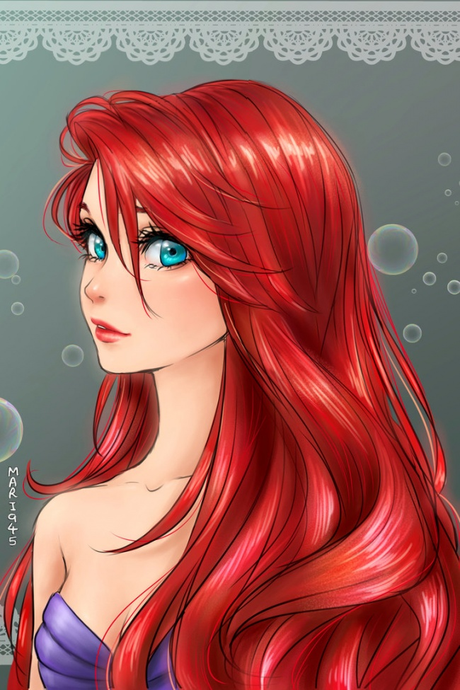 Sirenita Ariel Anime
